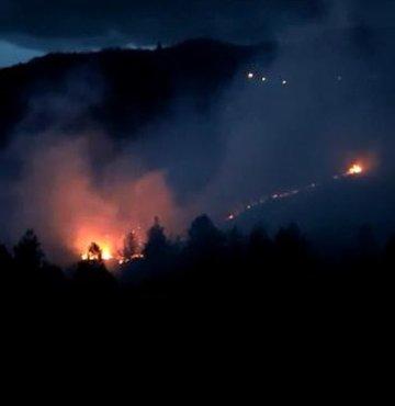 Sinop´ta korkutan orman yangını!