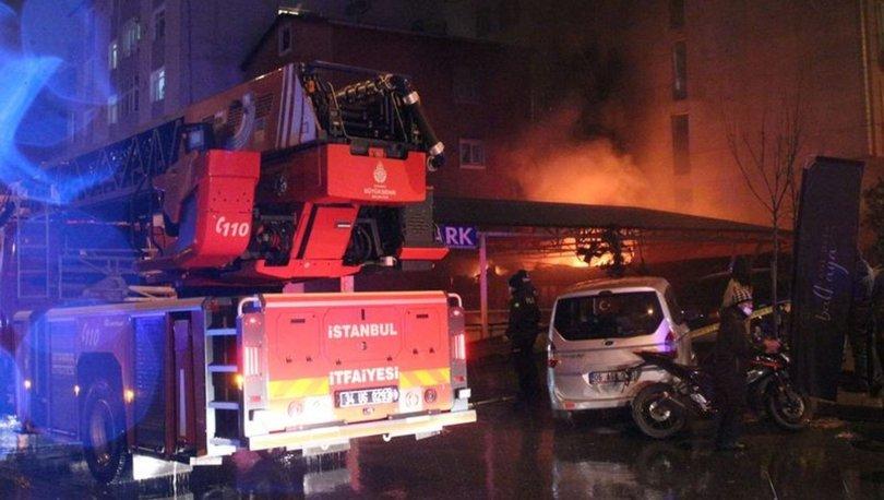 Şişli'de otoparkta yangın: Araçlar son anda kurtarıldı
