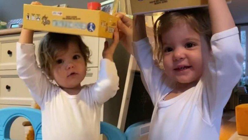 Pelin Akil-Anıl Altan çiftinin ikiz kızları Alin ve Lina simitçi oldu - Magazin haberleri