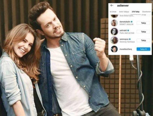 GİZLİ TAKİP! Sosyal medyanın diline düştü! Aslı Enver, Murat Boz'u stalklıyor mu?