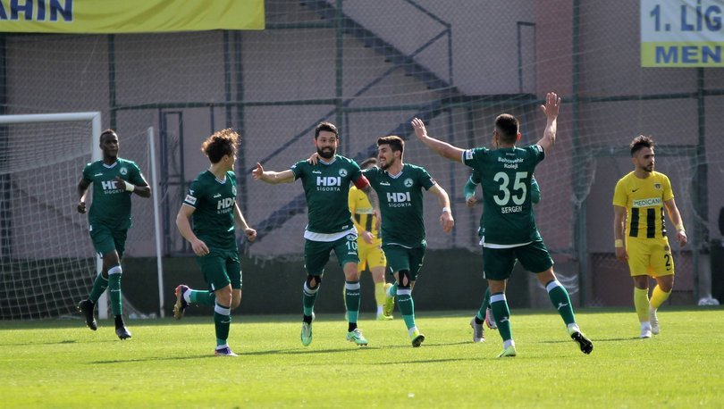 Galibiyet serisini 8 maça çıkaran Giresunspor, TFF 1. Lig'de liderliğini sürdürdü