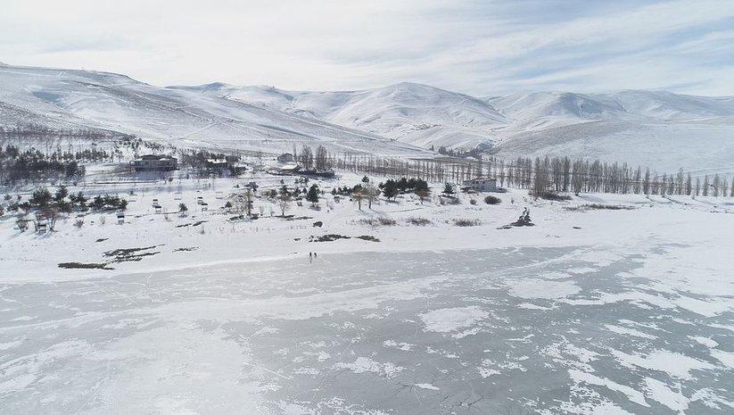 Kışın güzelliklerini yansıtıyor... Drone ile kaydedildi