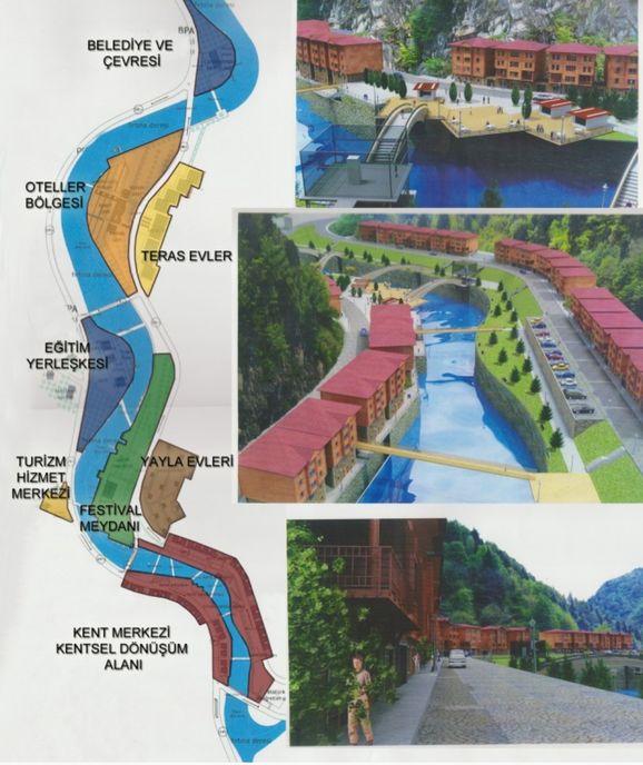 Çamlıhemşin Belediyesi'nin internet sitesinde bölgedeki projelerle ilgili görseller bulunuyor.