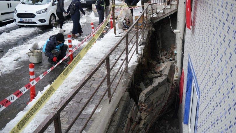 Son dakika: İstinat duvarı evin üzerine çöktü! - Haberler