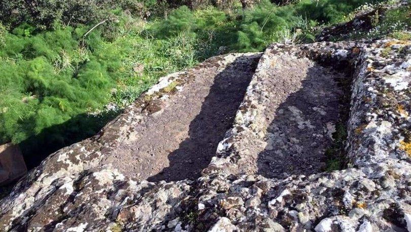 Bodrum'da 4 bin yıllık kaya mezarları hilti ve matkaplarla talan edildi