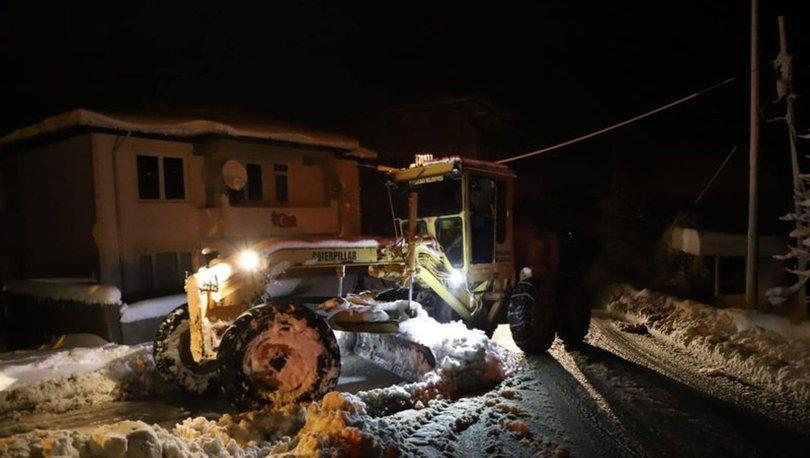 Zonguldak'ta karla kapanan 166 köy yolu ulaşıma açıldı
