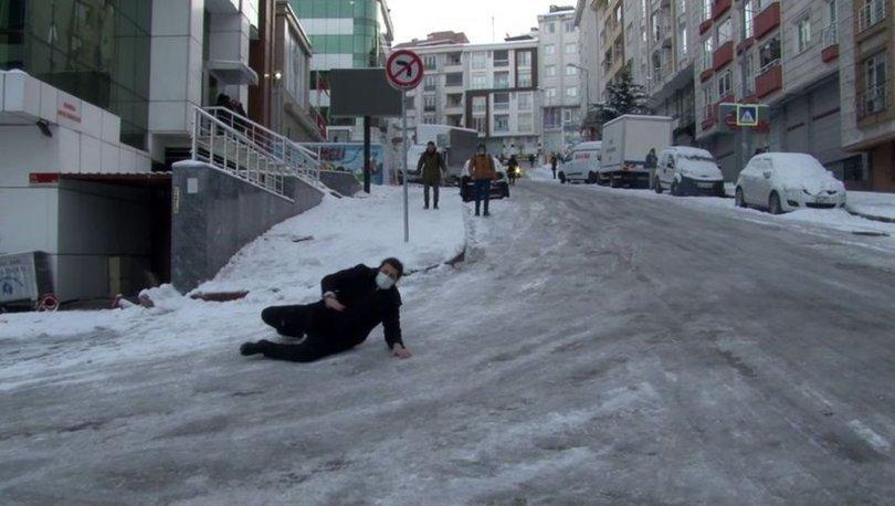BUZ GİBİ! Son dakika: Esenyurt'ta buz tutan yollar zor anlar yaşattı - Haberler
