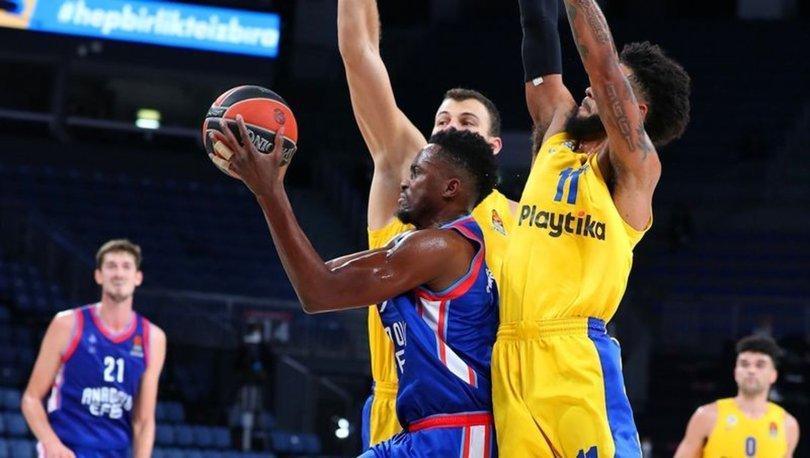 THY Avrupa Ligi'nde ertelenen Maccabi Tel Aviv-Anadolu Efes maçı 16 Mart'ta oynanacak