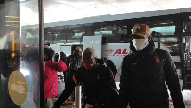 Galatasaray kafilesi Antalya'ya geldi