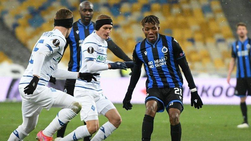 Dinamo Kiev: 1 - Club Brugge: 1   MAÇ SONUCU