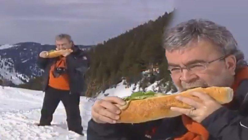 Ünlü gurme Mehmet Yaşin'den 'Kaçkar Dağları'nda sandviç molası'