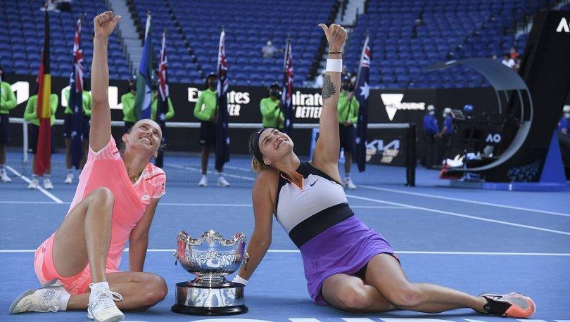Avustralya Açık'ta Mertens-Sabalenka ikilisi çift kadınlarda şampiyon oldu