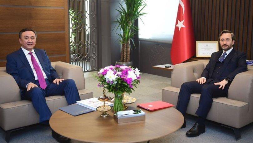 İletişim Başkanı Altun, Çin Halk Cumhuriyeti Ankara Büyükelçisi Shaobin ile görüştü