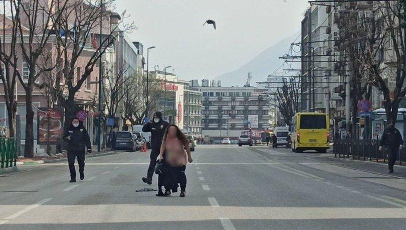 ÇIRILÇIPLAK... Son dakika: Kendini caddeye attı, Bursa birbirine girdi