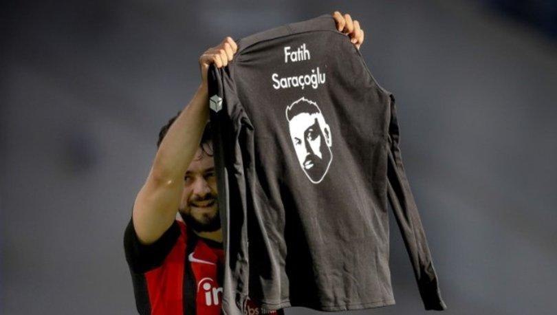 Eintracht Frankfurtlu Younes, Fatih Saraçoğlu'nu andı