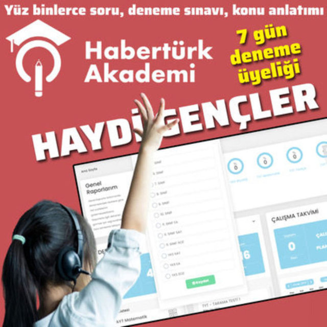 TYT, AYT matematik, edebiyat fizik konuları ve soru bankası Habertürk Akademi'de! Ücretsiz üye ol YKS, TYT, AYT, LGS online deneme sınavlarını çözmeye