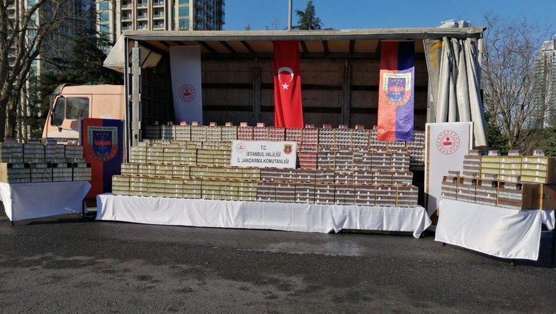 PURO... Son dakika: İstanbul'da 80 bin paket kaçak puro ele geçirildi!