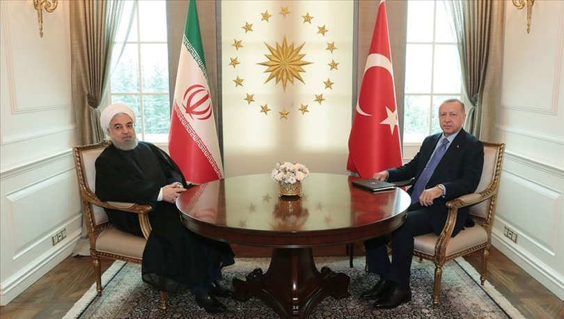 Son dakika... Cumhurbaşkanı Erdoğan, İran Cumhurbaşkanı Ruhani ile görüştü