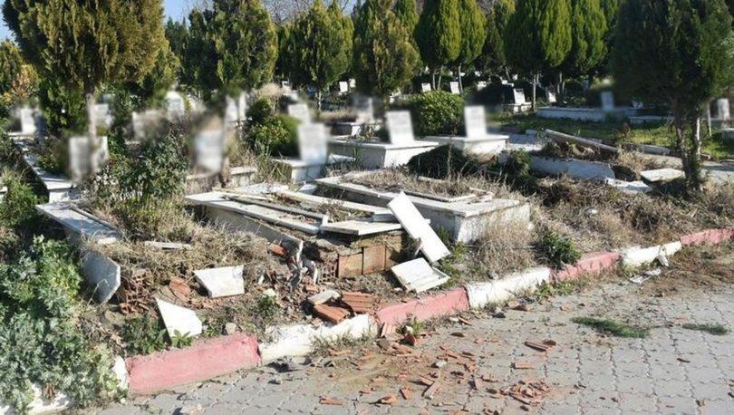 Manisa'da mezarlıkta çirkin saldırı