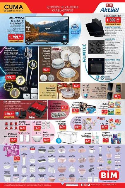 26 Şubat BİM Aktüel ürünler kataloğu çıktı! BİM'de bu hafta neler var? BİM haftanın indirim ürünleri