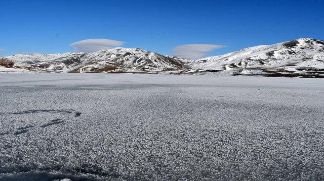 Kar, buz ve sis bulutu, Yıldız Göleti'ne estetik kattı