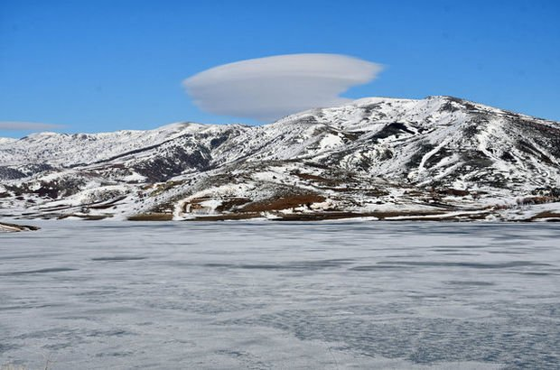 Kar, buz ve sis bulutu görsel şölen sunuyor