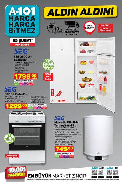 A101 25 Şubat Aktüel ürünler kataloğu çıktı! A101 haftanın indirimli ürünler listesi