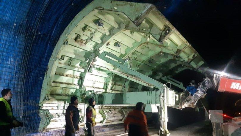 Türkiye'nin en uzun 3. tünelinde sona yaklaşıldı
