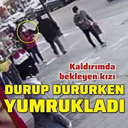 13 yaşındaki kıza durup dururken yumruk attı