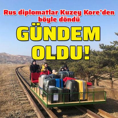 SON DAKİKA: Rus diplomatların Kuzey Kore'den dönüş anları gündem oldu! - Haberler