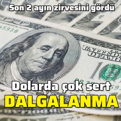Dolarda sert dalgalanma