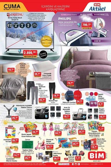 5 Mart BİM Aktüel ürünler kataloğu çıktı! BİM haftanın indirim ürünler listesi