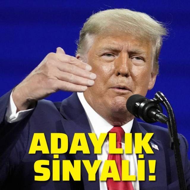 Trumptan adaylık sinyali!