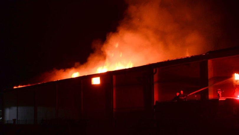 Kahramanmaraş'ta fabrika deposunda yangın