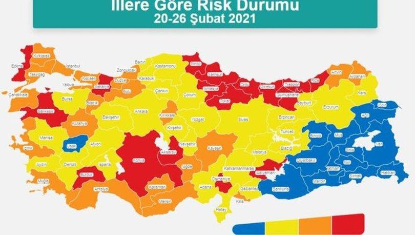 İl il koronavirüs risk haritası! Düşük, orta, yüksek ve çok yüksek riskli iller hangileri?