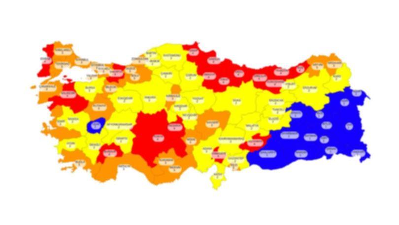 Erzurum hangi risk grubunda, renk kodu ne? Erzurum sokağa çıkma yasağı var mı, kalktı mı?