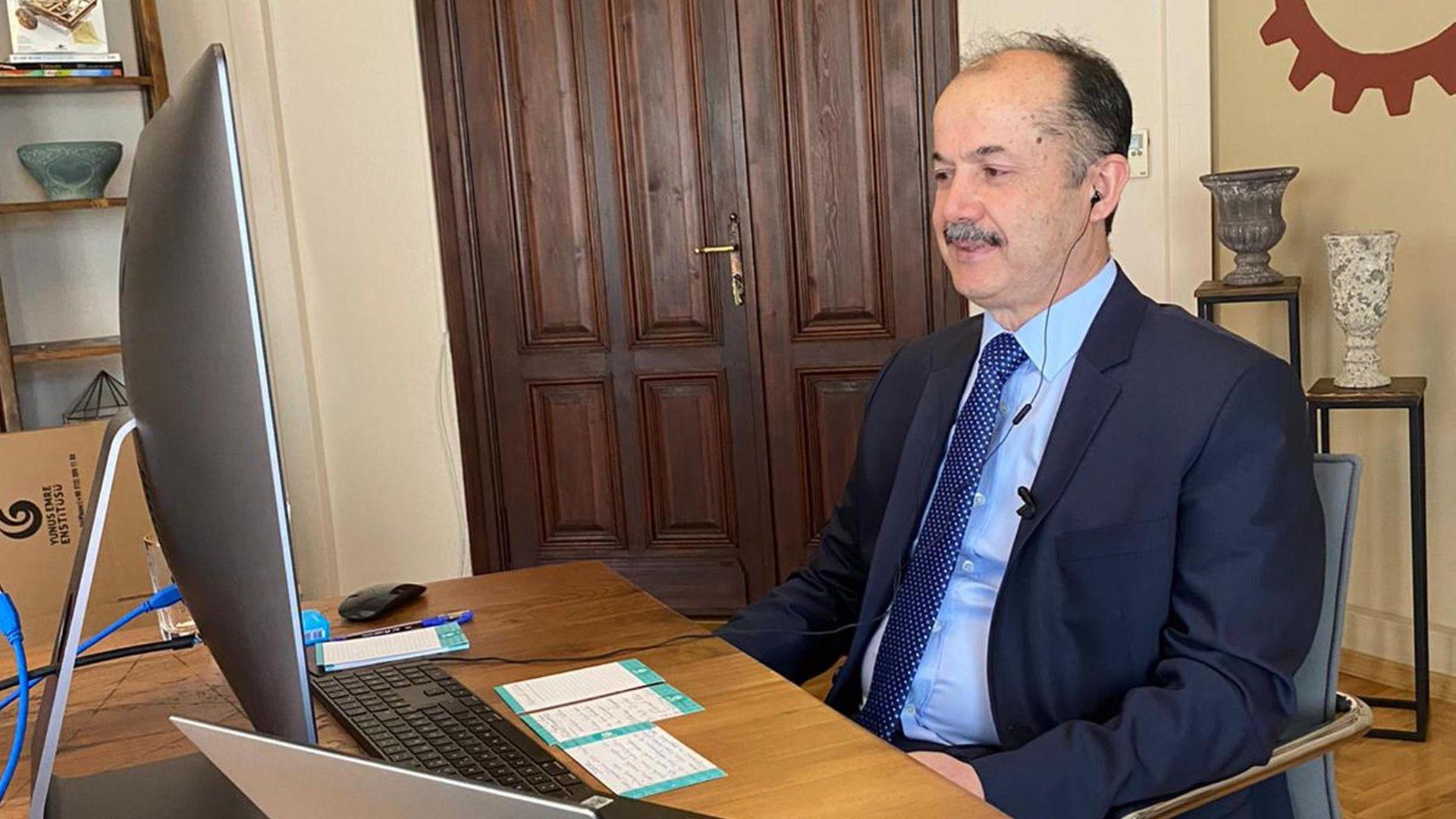 Yunus Emre Enstitüsü Başkanı Prof. Dr. Şeref Ateş: Azez'de de güzelliği ortaya çıkarıyoruz