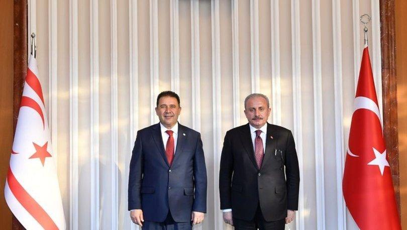 TBMM Başkanı Şentop, KKTC Başbakanı'nı Meclis'te Ağırladı