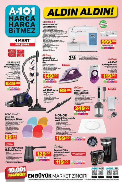 4 Mart A101 Aktüel ürünler kataloğu! A101 haftanın indirimli ürünler listesi