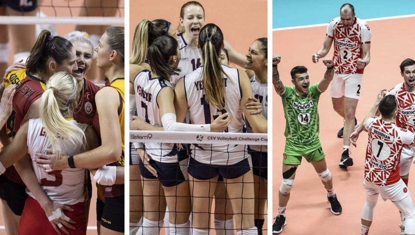 Voleybolda 3 Türk takımı, Avrupa kupalarında finale yükseldi