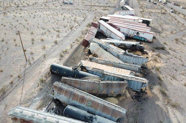 ABD'de tren kazası: 44 vagon raydan çıktı!
