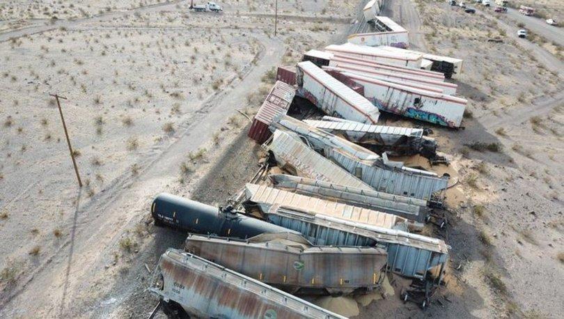 SON DAKİKA: ABD'de korkunç tren kazası: 44 vagon raydan çıktı! - Haberler