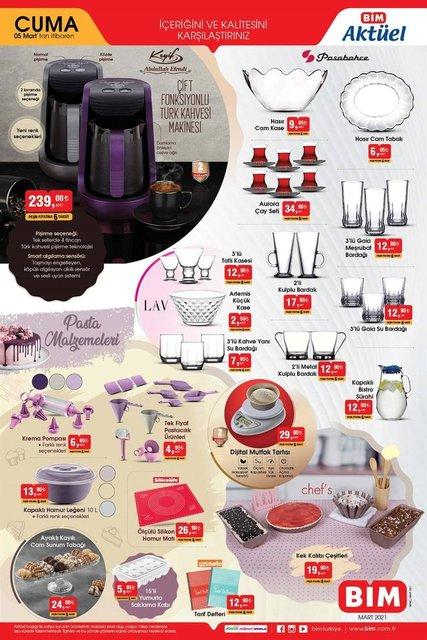 BİM 5 Mart 2021 Aktüel ürünler kataloğu çıktı! BİM'de neler var? BİM haftanın indirimli ürünler listesi