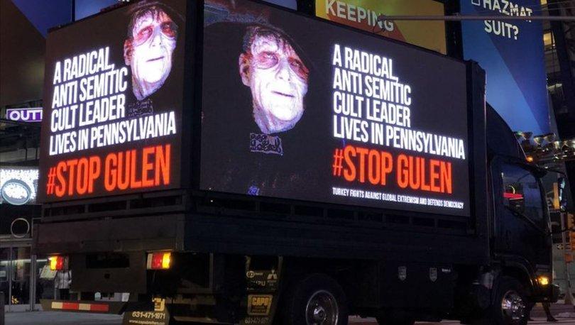 New York'ta FETÖ'nün karanlık yüzünü gösteren dijital ekranlı kamyonet dolaştırıldı