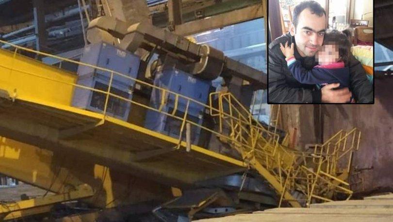 FACİA| Son dakika: Düşen vinç 2 çocuk babası işçiyi hayttan kopardı