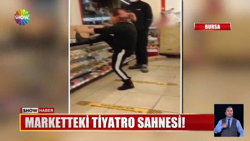 Bursa'da markete giren iki şüpheli kadının oynadığı tiyatro karakolda son buldu