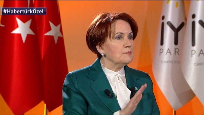 Son dakika... İYİ Parti Genel Başkanı Meral Akşener Habertürk TV'de soruları yanıtladı | Gündem Haberleri