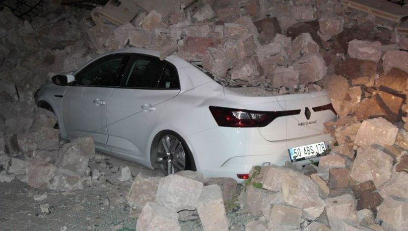 Nevşehir Belediye Başkanı Mehmet Savran'ın oturduğu apartmanın istinat duvarı çöktü