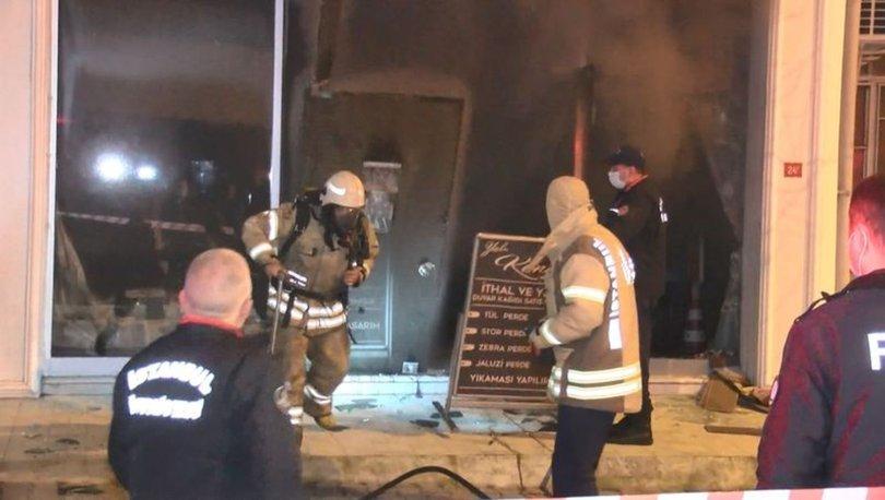 Maltepe'de mağazada kalan engelli vatandaş, çıkan yangında dumandan etkilenerek hayatını kaybetti