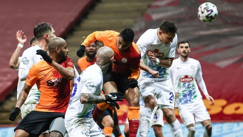 Galatasaray: 3 - Çaykur Rizespor: 4   MAÇ SONUCU